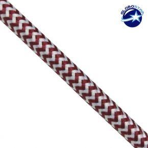 Υφασμάτινο Καλώδιο 2x0.75 DesZo Κόκκινο Άσπρο
