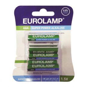 Eurolamp Μπαταρία Αλκαλική 1,5V ΑΑΑ LR03 8ΤΜΧ