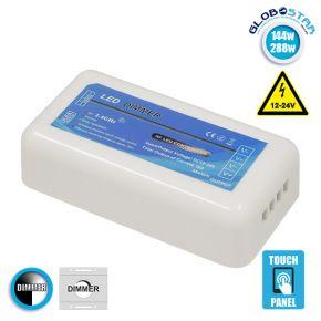 Ασύρματος LED Δέκτης - Receiver Dimmer 2.4G RF για Groups 12v (144w) - 24v (288w) DC GloboStar 73320