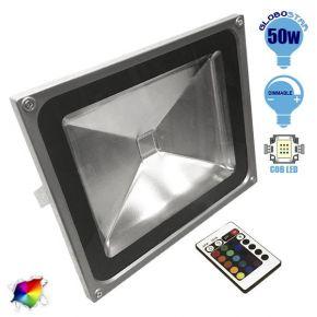 Προβολέας LED Globostar 50 Watt  230 Volt RGB με Ασύρματο Χειριστήριο