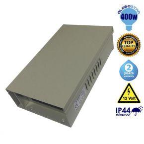 Τροφοδοτικό Rainproof Globostar IP44 400 Watt 12 Volt DC Ρυθμιζόμενο