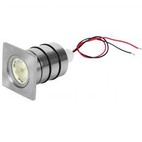 VK LED Spot GU10 Χωνευτό Φ35 Αλουμινίου Με Τετράγωνο Στεφάνι IP65