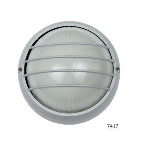 SL LED Απλίκα Τοίχου E27 Αλουμινίου Στρογγυλή με Ράγες ø90 IP44