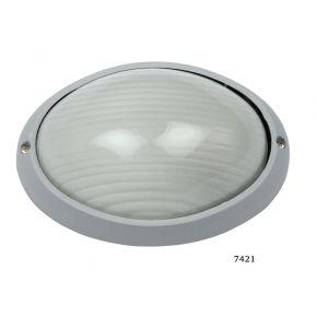 SL LED Απλίκα Τοίχου E27 Αλουμινίου Oval 108x142mm IP44