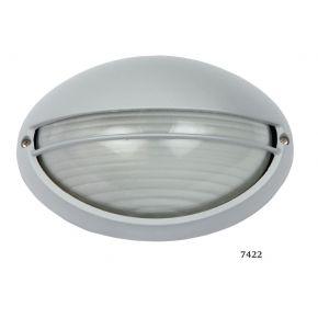 SL LED Απλίκα Τοίχου E27 Αλουμινίου Oval με Κάλυμμα 108x142mm IP44