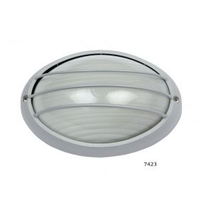 SL LED Απλίκα Τοίχου E27 Αλουμινίου Oval με Ράγες 108x142mm IP44