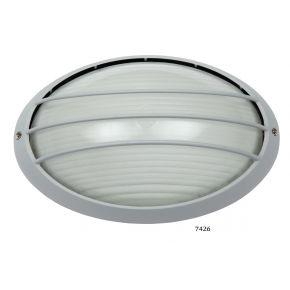 SL LED Απλίκα Τοίχου E27 Αλουμινίου Oval με Ράγες 125x207mm IP44
