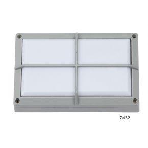 SL LED Απλίκα Τοίχου E27 Αλουμινίου Ορθογώνια με ράγες 218x134 IP54