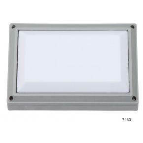 SL LED Απλίκα Τοίχου E27 Αλουμινίου Ορθογώνια 278x183 IP54