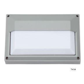 SL LED Απλίκα Τοίχου E27 Αλουμινίου Ορθογώνια με πλαίσιο 278x183 IP54