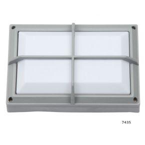 SL LED Απλίκα Τοίχου E27 Αλουμινίου Ορθογώνια με ράγες 278x183 IP54