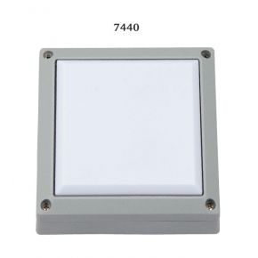 SL LED Απλίκα Τοίχου GX53 Αλουμινίου Τετράγωνη 145x145 IP54