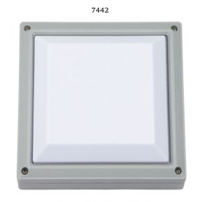 SL LED Απλίκα Τοίχου E27 Αλουμινίου Τετράγωνη 215x215 IP54