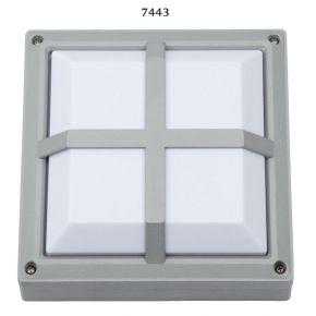 SL LED Απλίκα Τοίχου E27 Αλουμινίου Τετράγωνη Ράγες 215x215 IP54