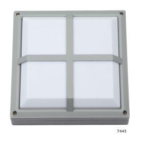SL LED Απλίκα Τοίχου E27 Αλουμινίου Τετράγωνη 270x270 Ράγες IP54