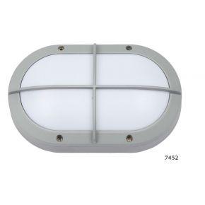 SL LED Απλίκα Τοίχου E27 Αλουμινίου Oval με Ράγες IP54