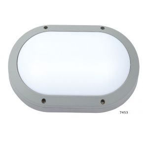 SL LED Απλίκα Τοίχου E27 Αλουμινίου Oval IP54 Μεγάλη