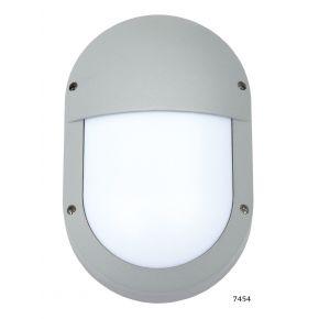 SL LED Απλίκα Τοίχου E27 Αλουμινίου Oval Κάθετη IP54 Μεγάλη