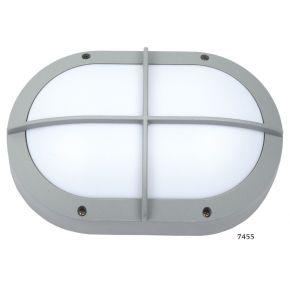 SL LED Απλίκα Τοίχου E27 Αλουμινίου Oval με Ράγες IP54 Μεγάλη