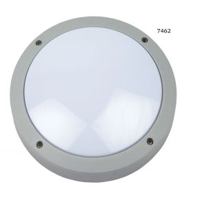 SL LED Απλίκα Τοίχου E27 Αλουμινίου Στρογγυλή ø220 IP54