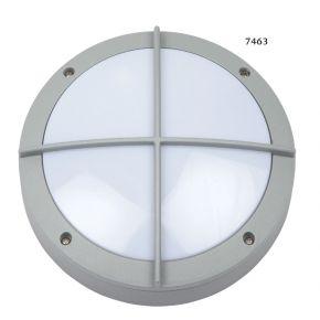 SL LED Απλίκα Τοίχου E27 Αλουμινίου Στρογγυλή ø220 Ράγες IP54