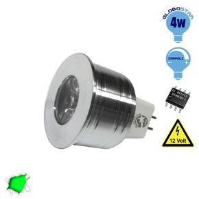 Σποτάκι LED MR11 4 Watt 10-30 Volt Πράσινο