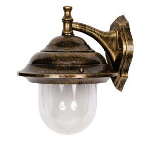 SL LED Φανάρι Επιτοίχιο Ε27 251x348mm Plastic IP44 Black Gold