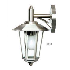 SL LED Φανάρι Επιτοίχιο Ε27 200x320mm Ανοξείδωτο IP44