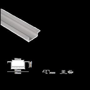 VK  Προφίλ Αλουμινίου Χωνευτό Λευκό 12mm