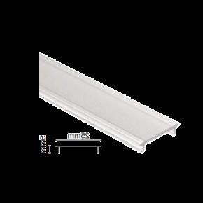 VK Κάλυμμα για Προφίλ Αλουμινίου Λευκό 25mm