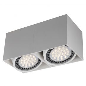 VK LED Spot Oροφής 2x50W Αλουμινίου GU10 AR111 VK03107CE IP20 Adjustable
