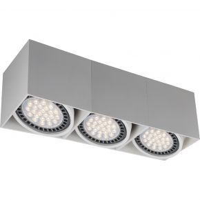 VK LED Spot Oροφής 3x50W Αλουμινίου GU10 AR111 VK03107CE IP20 Adjustable