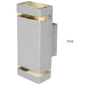 SL LED Απλίκα Τοίχου GU10 Ορθογώνιο IP54 Silver Double