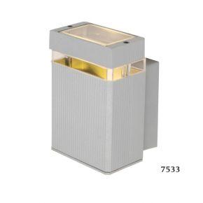 SL LED Απλίκα Τοίχου GU10 Ορθογώνιο IP54 Silver