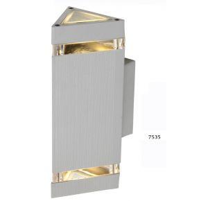 SL LED Απλίκα Τοίχου GU10 Τριγωνική IP54 Silver Double