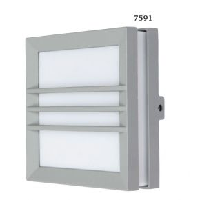 SL LED Απλίκα Τοίχου GX53 Αλουμινίου Τετράγωνη Ράγες IP54