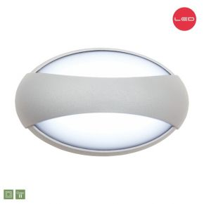 SL LED Απλίκα Τοίχου 3x1W Αλουμινίου Cree Στρογγυλό IP54