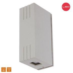 SL LED Απλίκα Τοίχου 2x3W Αλουμινίου Silver IP44