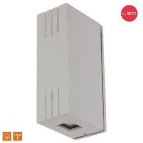 SL LED Απλίκα Τοίχου 2x3W Αλουμινίου Cree Silver IP44