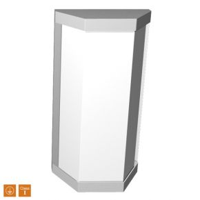 SL LED Απλίκα Τοίχου E27 IP44 Ορθογώνιο Λεπτό Πλήρης Πρόσοψη