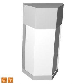 SL LED Απλίκα Τοίχου E27 IP44 Ορθογώνιο Λεπτό