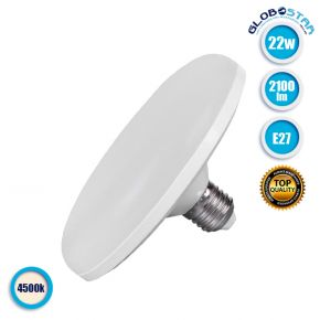 Λάμπα LED E27 UFO F120 22W 230V 2100lm 180° Φυσικό Λευκό 4500k GloboStar 78022