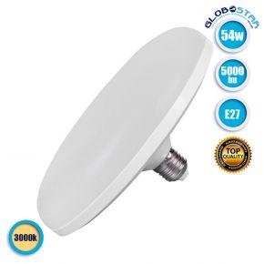 Λάμπα LED E27 UFO F220 54W 230V 5000lm 180° Θερμό Λευκό 3000k GloboStar 78024