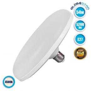 Λάμπα LED E27 UFO F220 54W 230V 5200lm 180° Φυσικό Λευκό 4500k GloboStar 78025