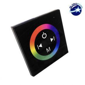 Touch Panel Τοίχου RGB Controller 12-24 Volt 144 Watt