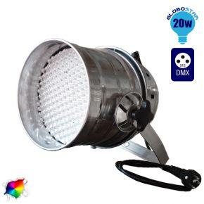 LED PAR Κεφαλή 177 LED RGB DMX 512 Silver Body