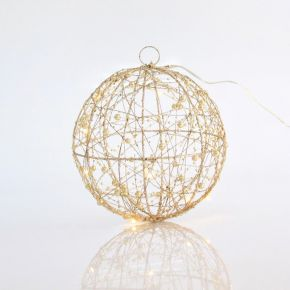 Eurolamp LED Φωτιζόμενη Μπάλα Με Glitter