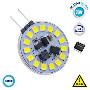 Λάμπα LED G4 15 SMD 2835 3W 10V-30V IC Driver Dimmable 360lm 120° Side Pin Ψυχρό Λευκό 6000k GloboStar 87908