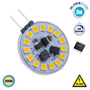 Λάμπα LED G4 15 SMD 2835 3W 10V-30V IC Driver Dimmable 360lm 120° Side Pin Θερμό Λευκό 3000k GloboStar 87910
