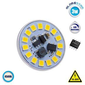 Λάμπα LED G4 15 SMD 2835 3W 10V-30V IC Driver Dimmable 360lm 120° Back Pin Φυσικό Λευκό 4500k GloboStar 87912